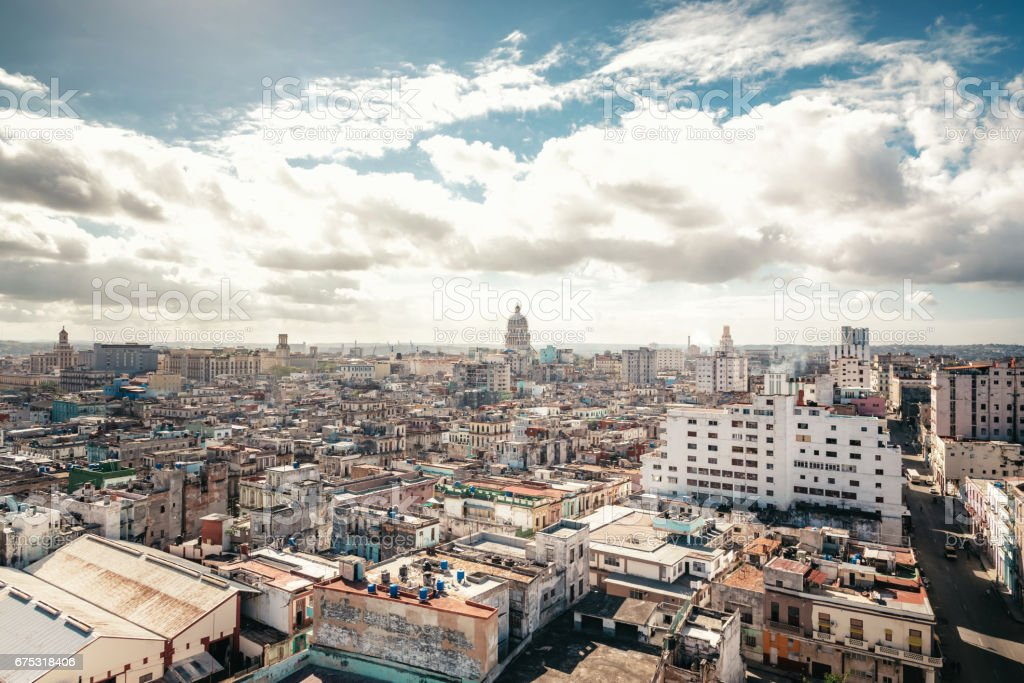 Havanna citscape with Capitol at sunny day stock photo