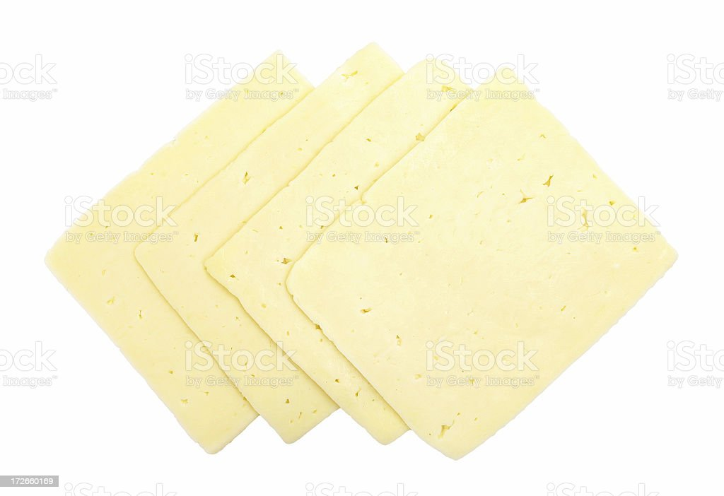 havarti cheese slices stock photo