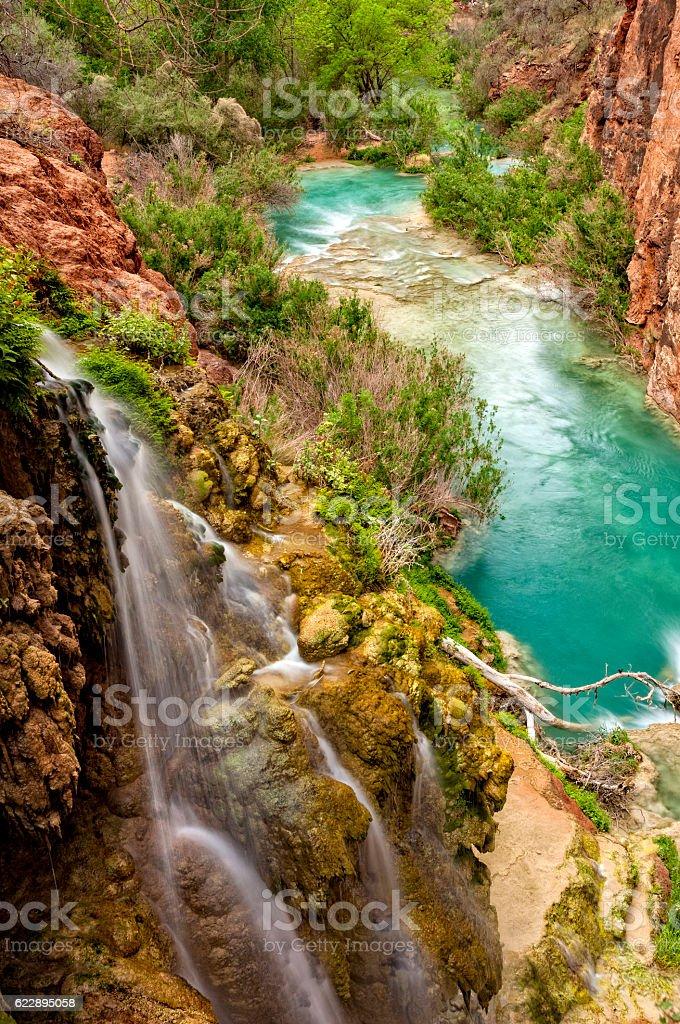 Havasu Creek Grand Canyon stock photo