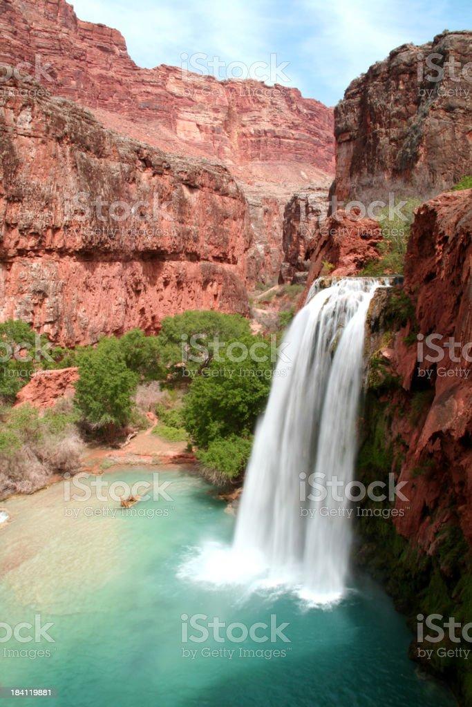 Havasu Falls in the Grand Canyon royalty-free stock photo