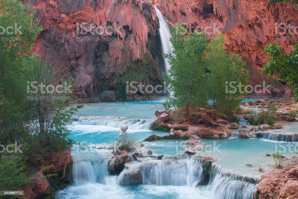 Havasupai Waterfall stock photo