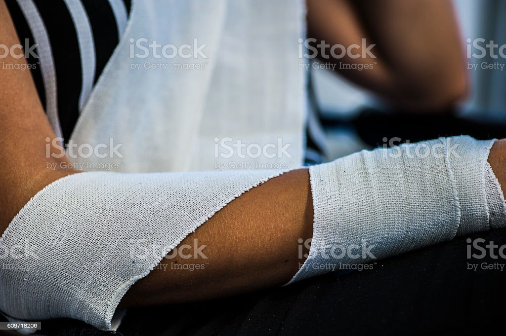 Have a bandage done stock photo