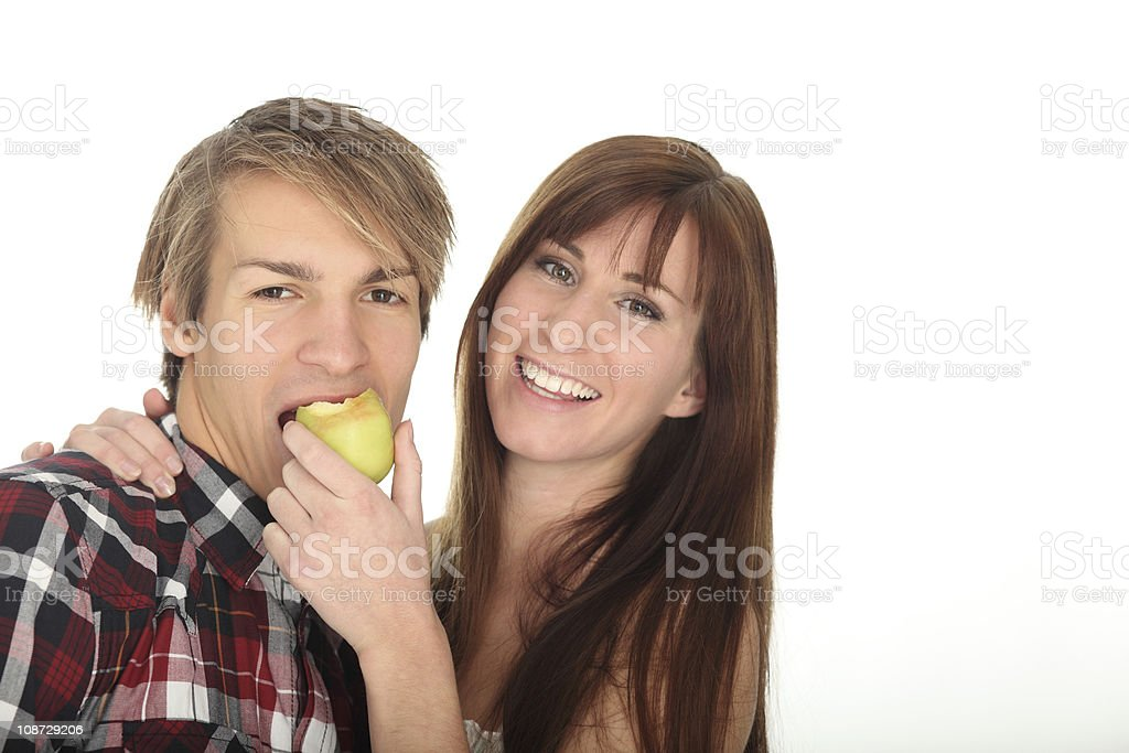 Have a bite, sweetie - white background stock photo