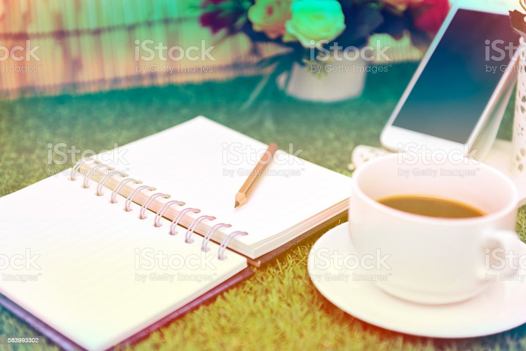 Have a cup of black coffee old color stlye stock photo
