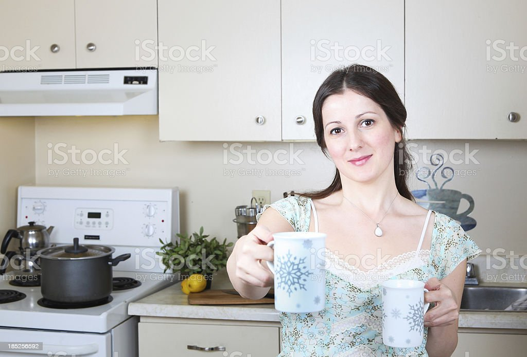 Have a cup of coffee royalty-free stock photo