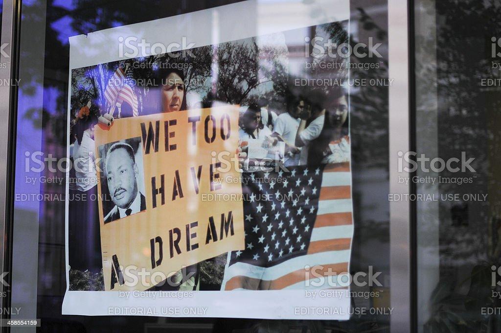 I Have a Dream, reflexion stock photo