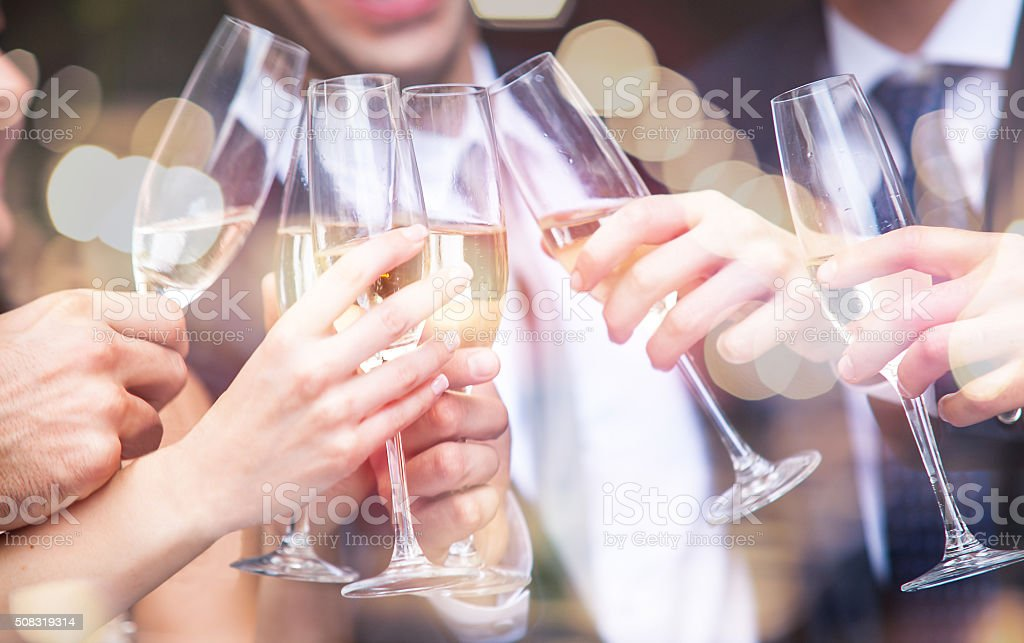 Have a drink - toasting stock photo