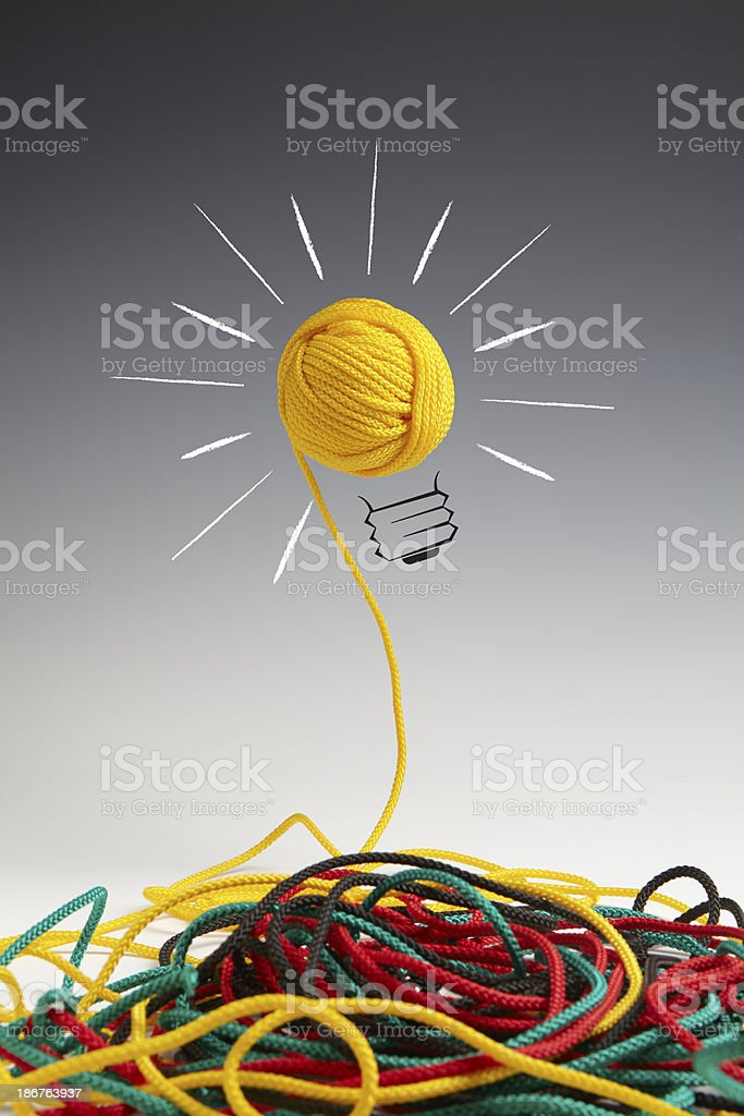 I have a good idea stock photo