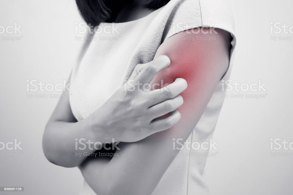 Have a itching stock photo