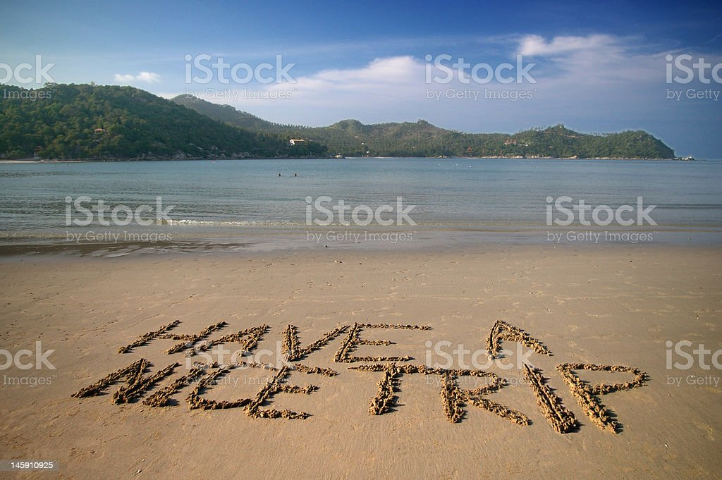Have a nice trip! royalty-free stock photo