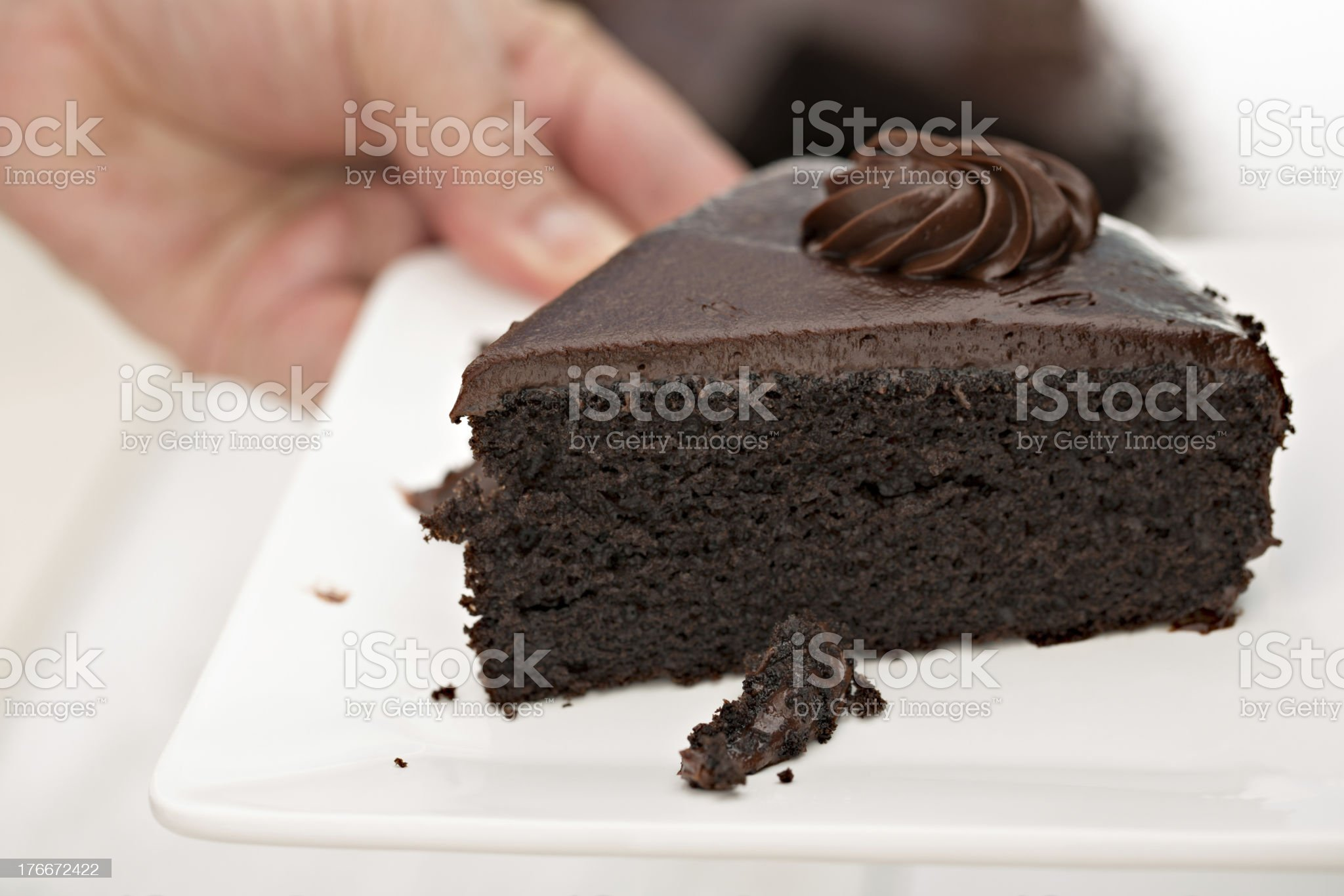 Have A Piece Of Chocolate Cake royalty-free stock photo