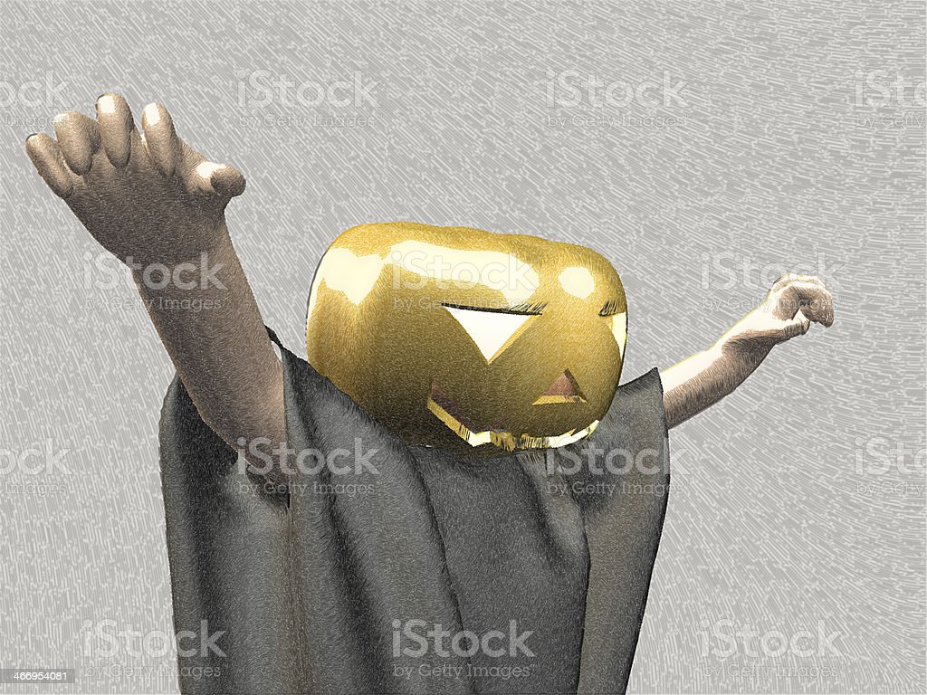 I have a prank in costume for Halloween. royalty-free stock photo