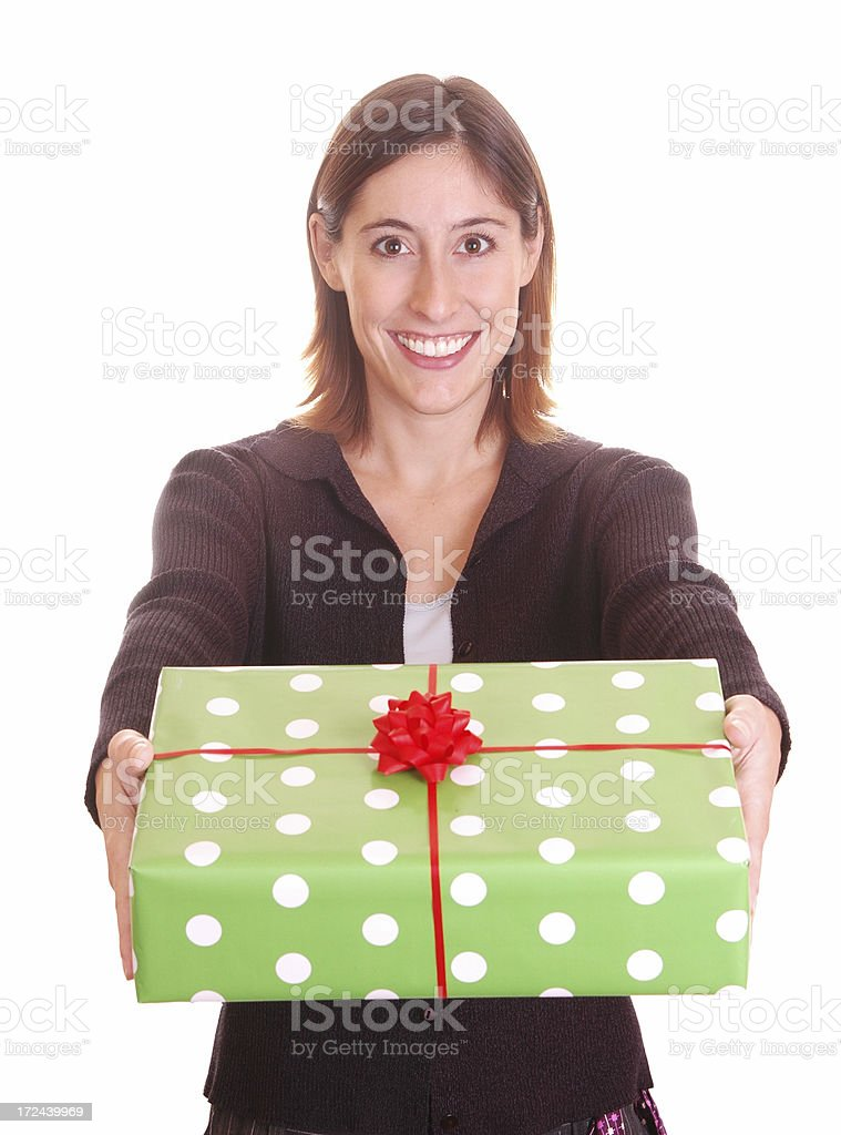 Have a present! royalty-free stock photo