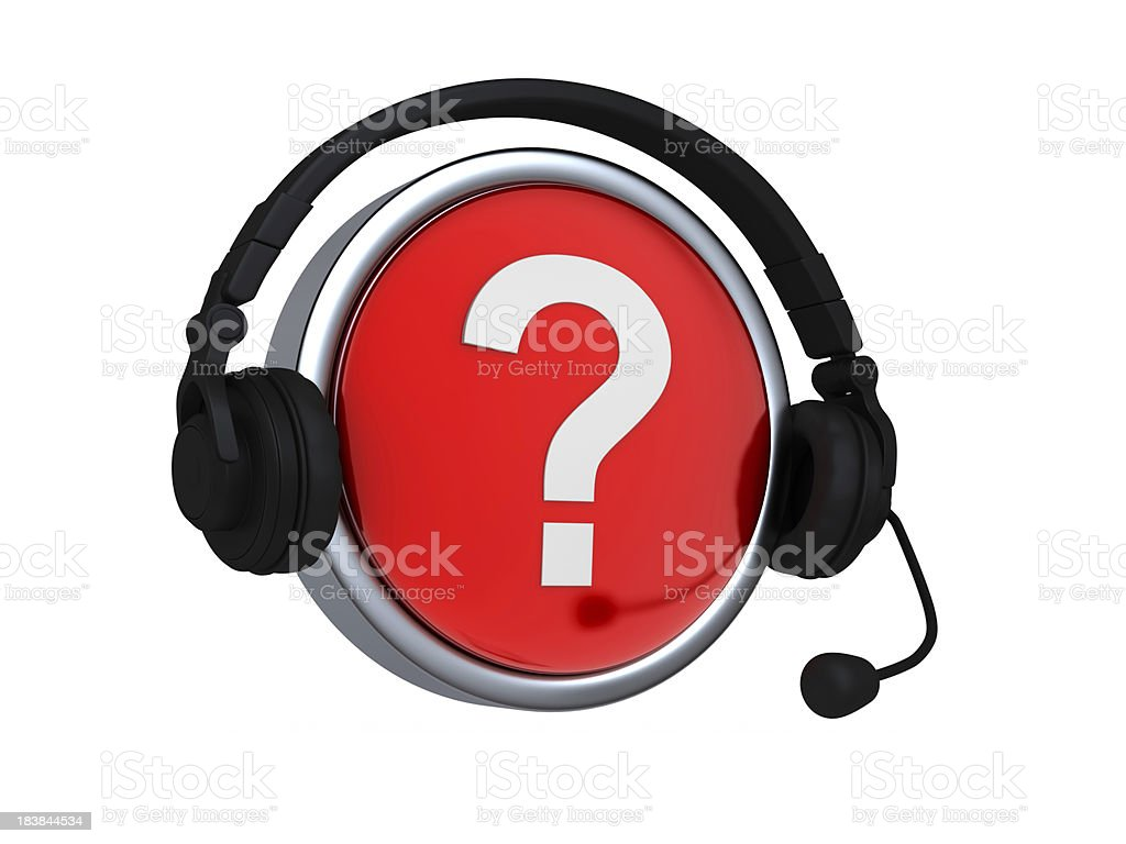 have a Question ... Contact Us royalty-free stock photo