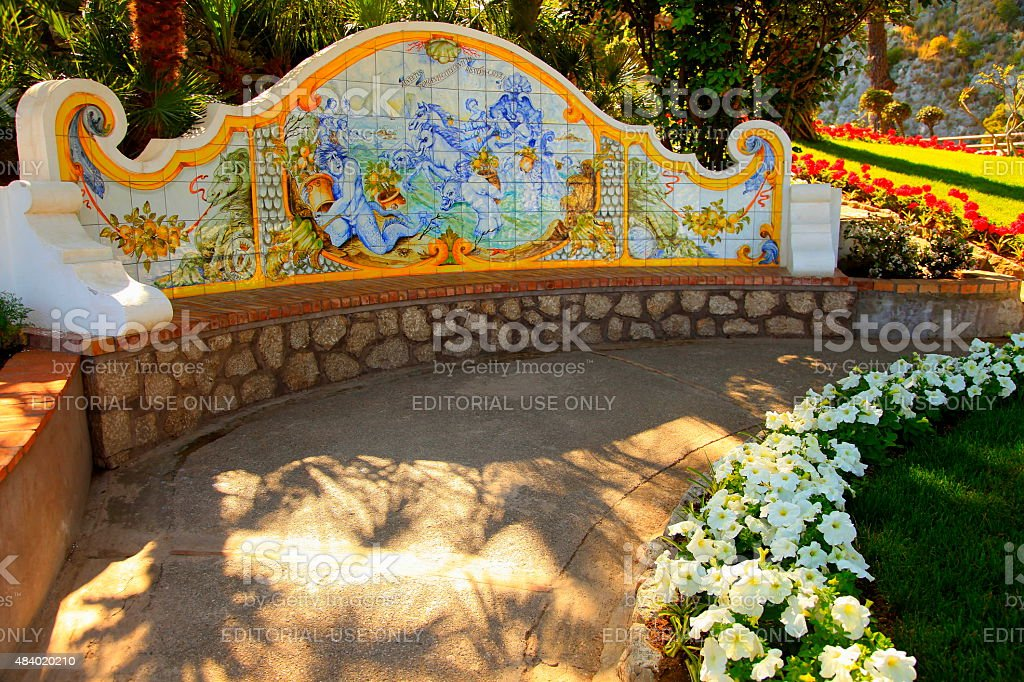 Have a seat and relax in Capri, Bay of Naples stock photo