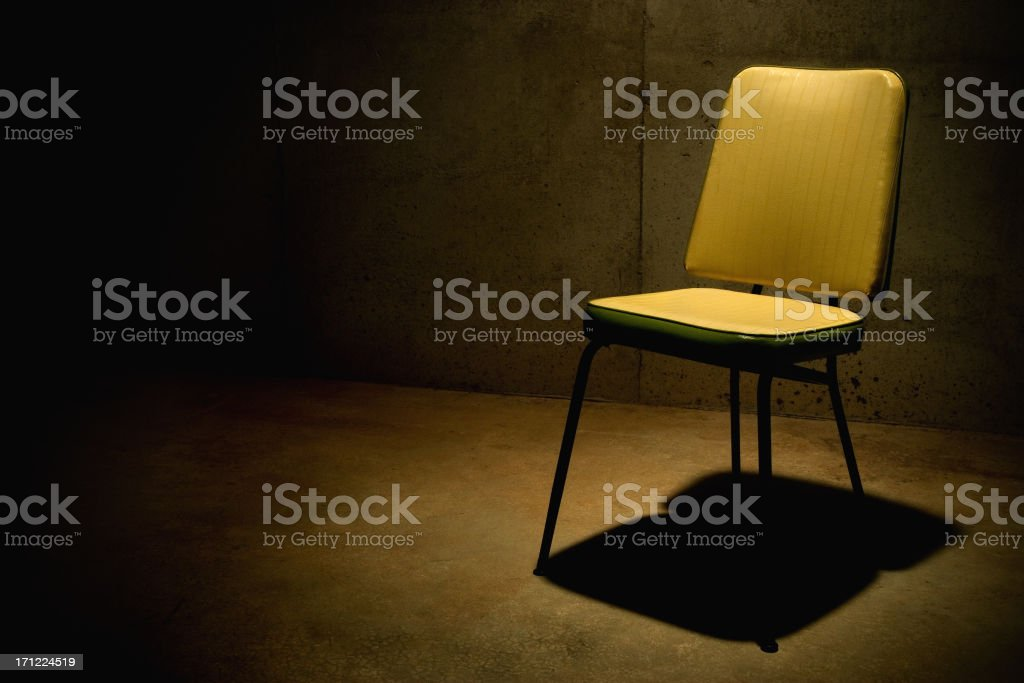 Have a Seat--Interrogation Chair stock photo
