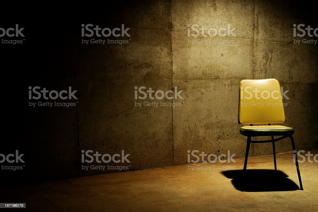 Have a seat--interrogation room royalty-free stock photo