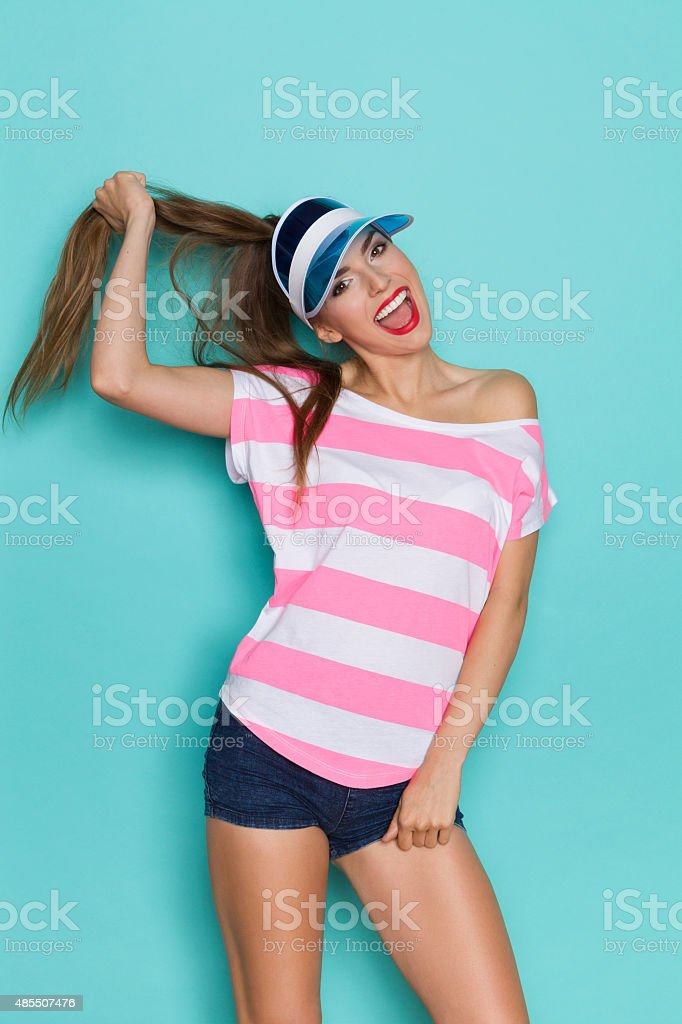 I Have A Strong Hair stock photo