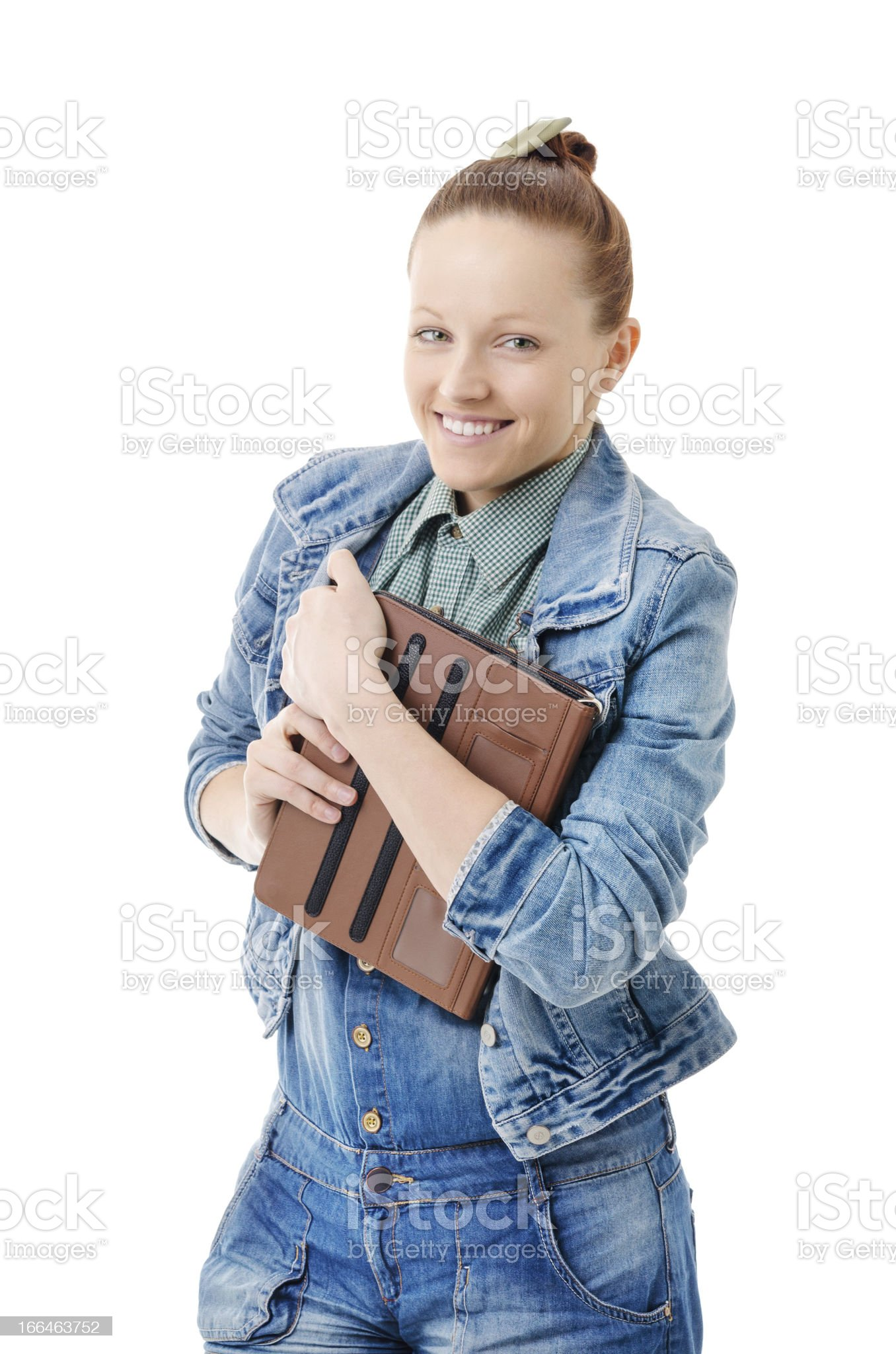 I have a tablet! royalty-free stock photo