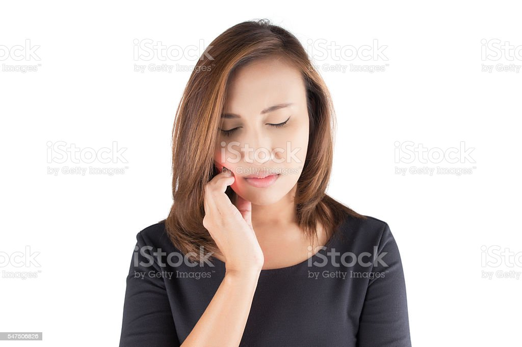 Have a toothache stock photo