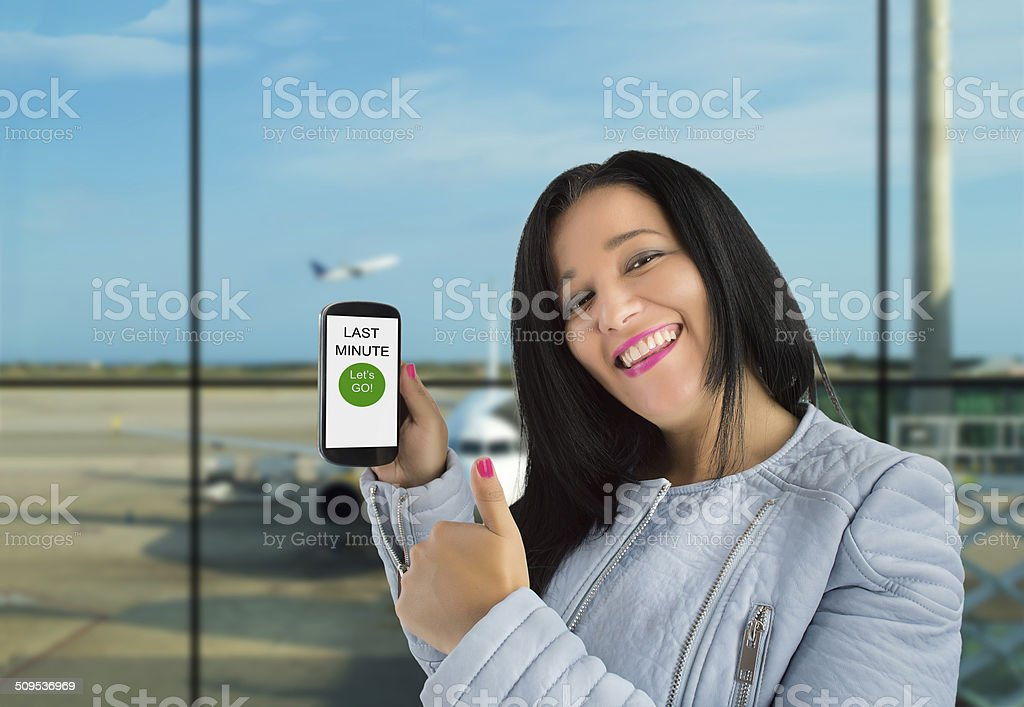 I have an offer from my flight stock photo