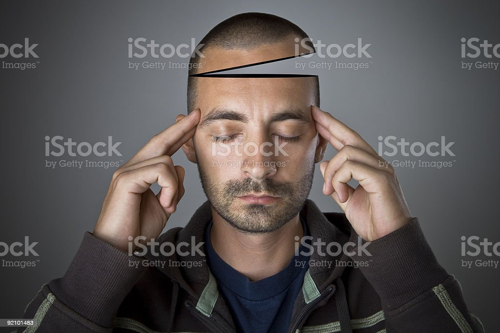 Have an open mind stock photo
