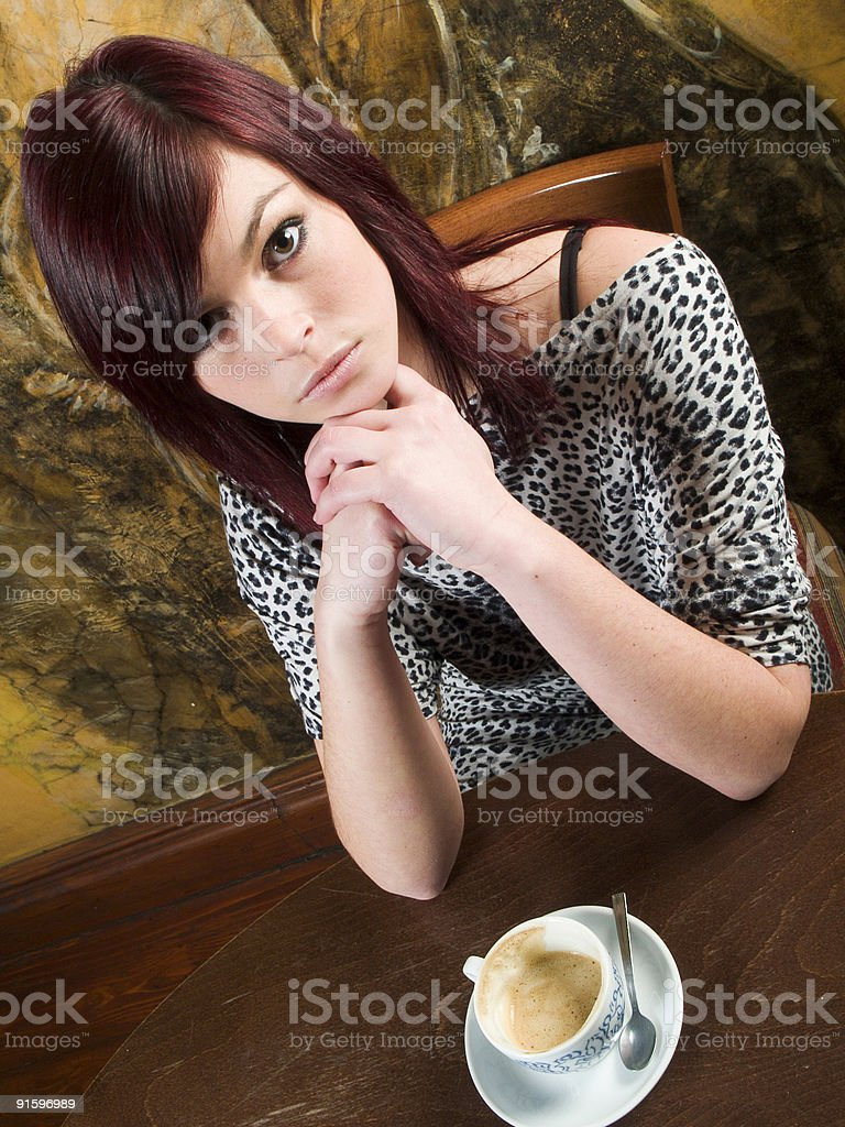 Have capuccino with me stock photo