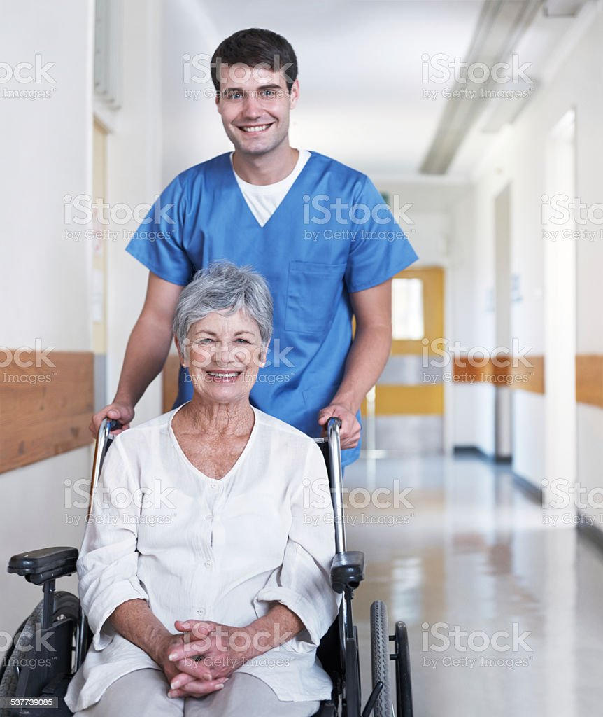 I have confidence in his caregiving stock photo