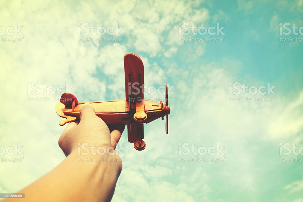 Have dreams wants to be a pilot stock photo