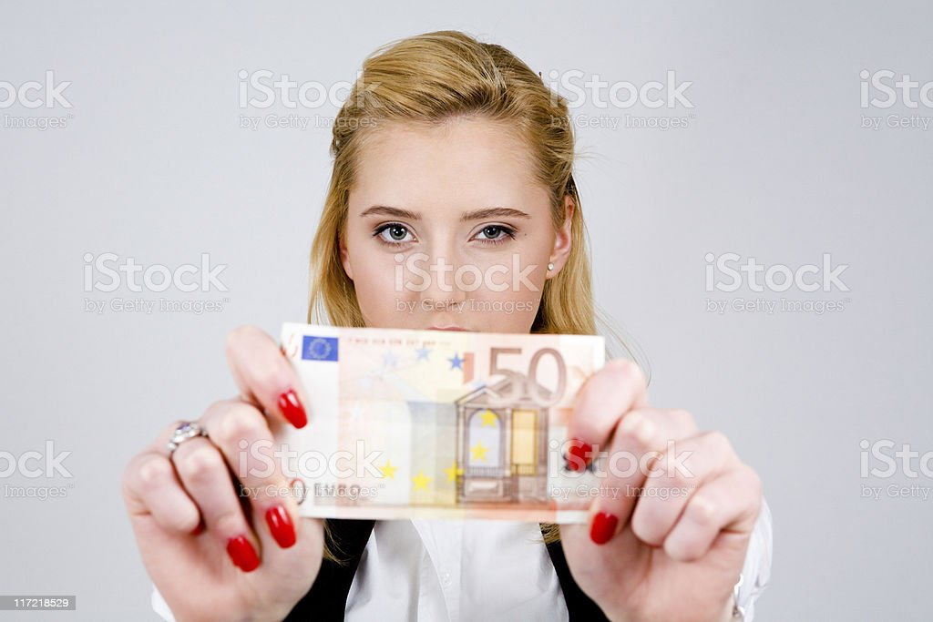 I have fifty euro! royalty-free stock photo