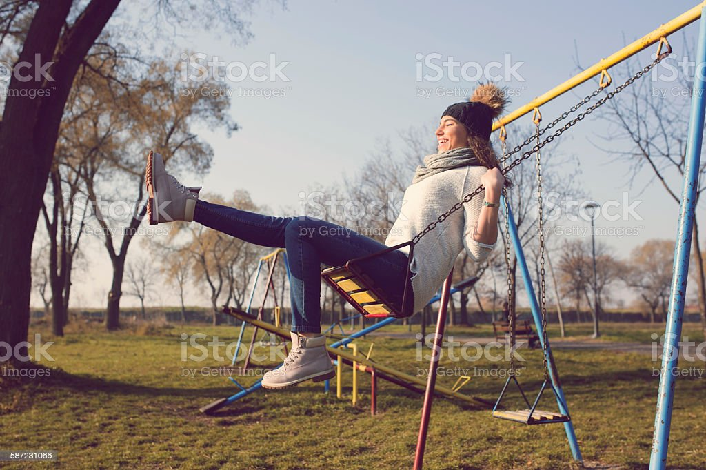 Have fun with yourself! stock photo