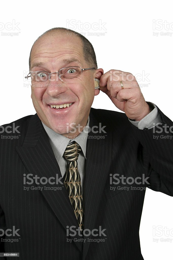 I have Money coming out of my ears royalty-free stock photo
