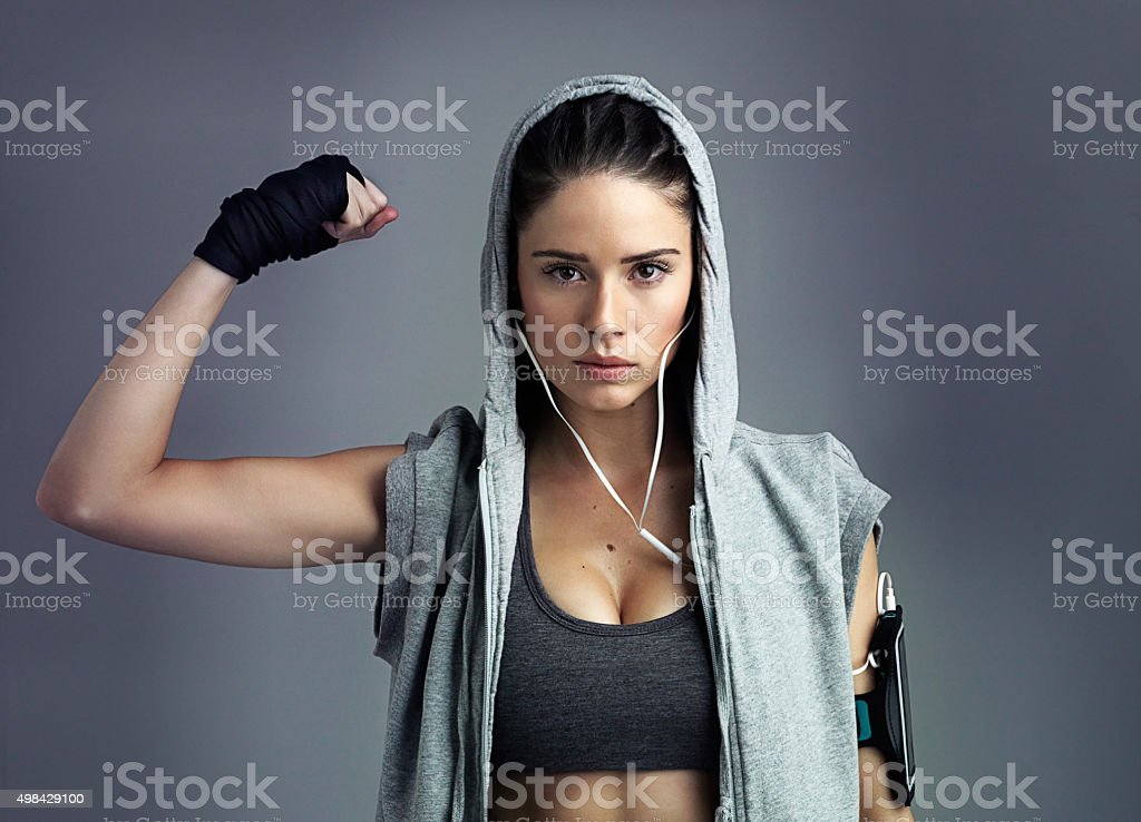 I have more than core strength! stock photo