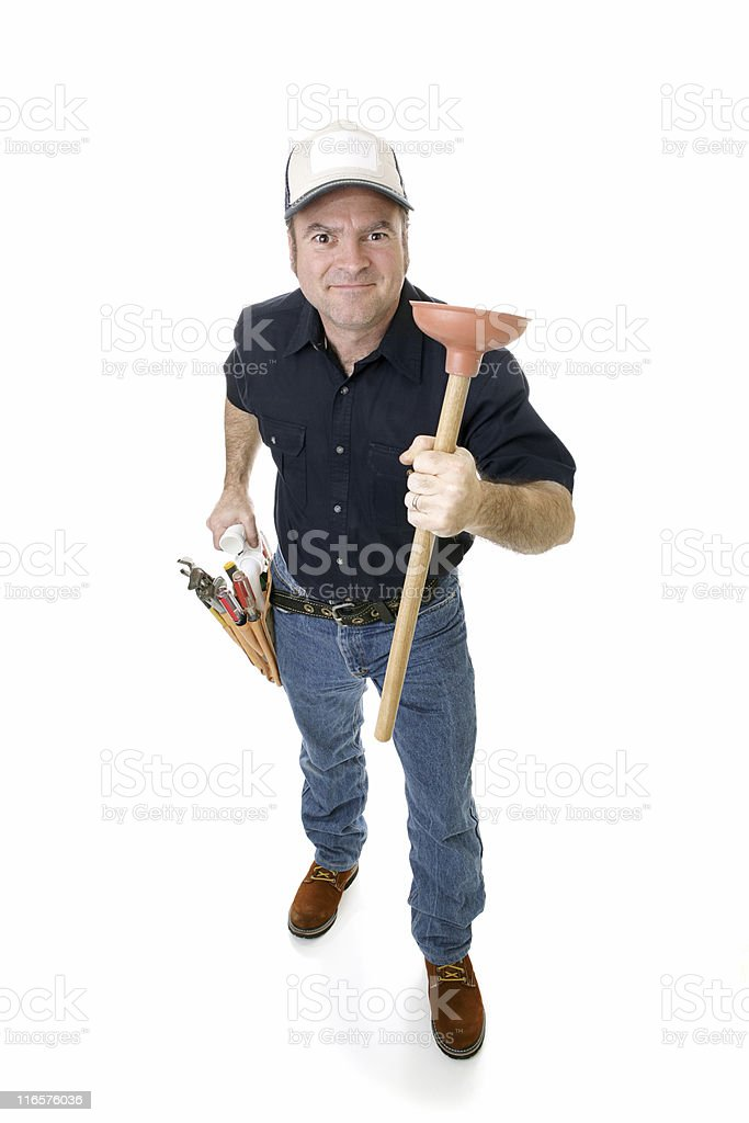 Have Plunger Will Travel royalty-free stock photo