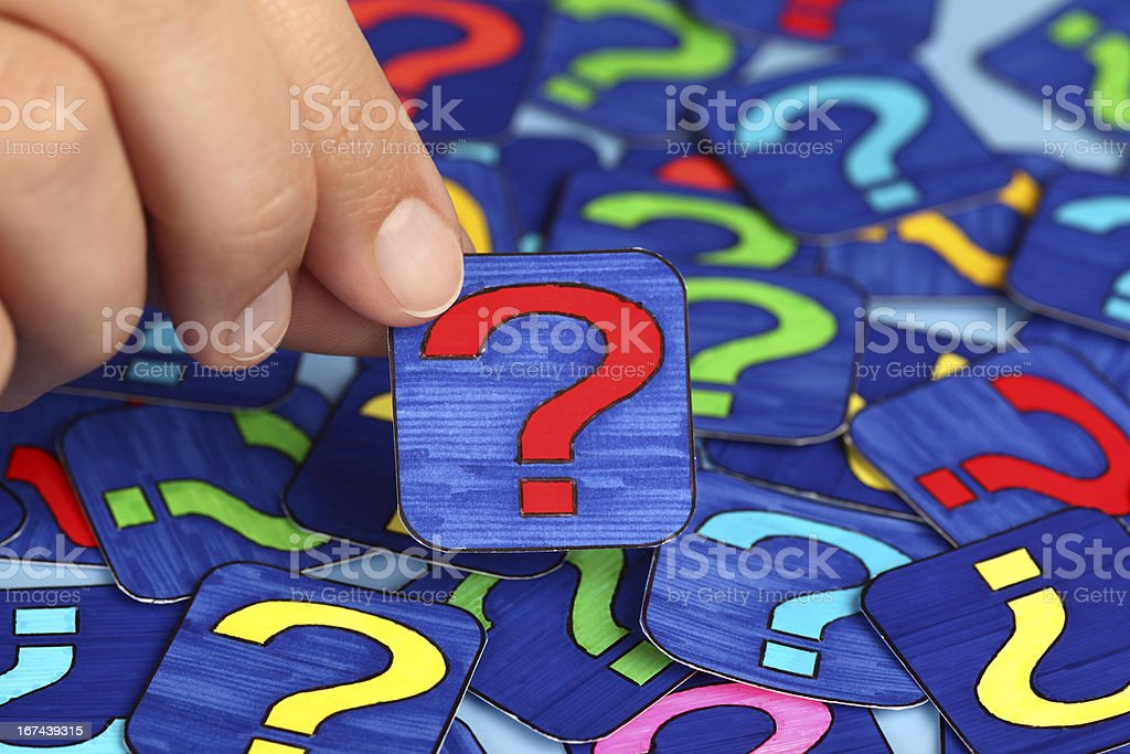 I have question royalty-free stock photo
