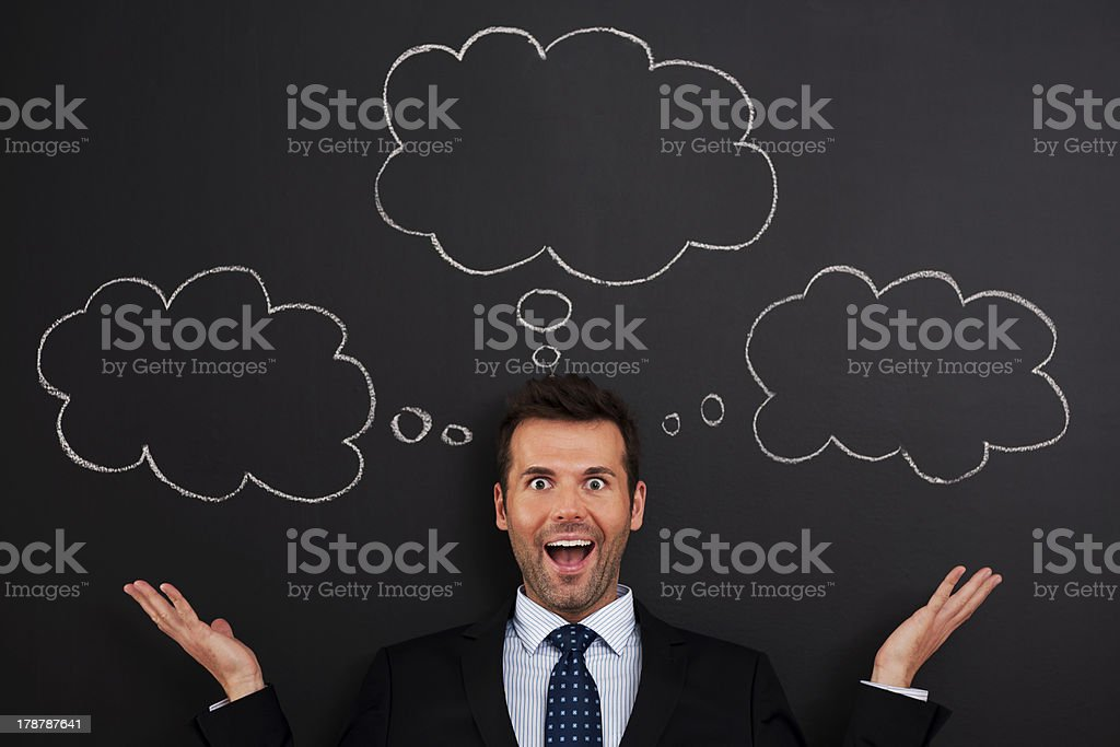 I have so much thoughts stock photo