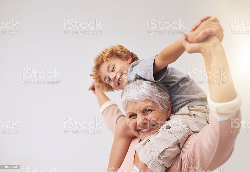I have the best granny in the whole wide world stock photo