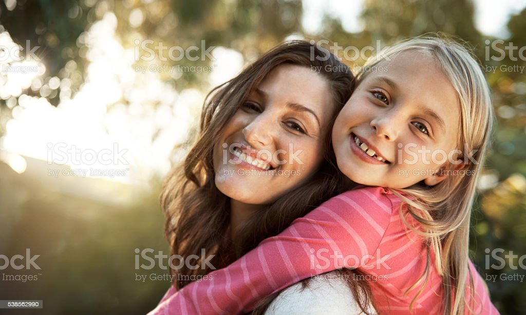 I have the best mom! stock photo