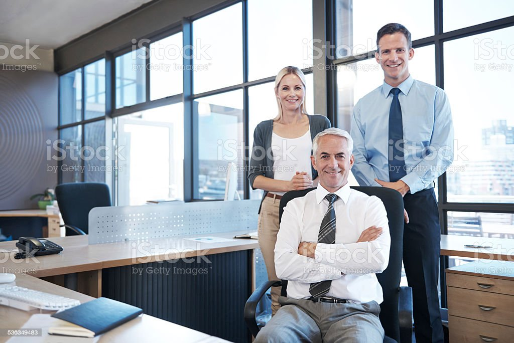 I have the best team behind me stock photo