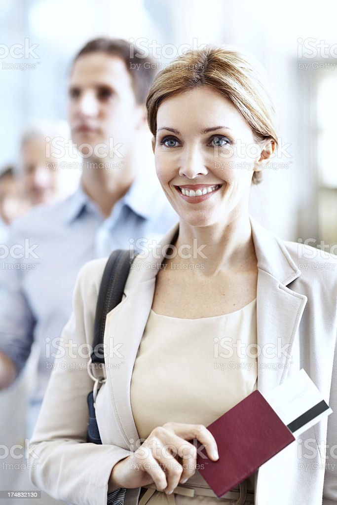 Have ticket, will travel royalty-free stock photo