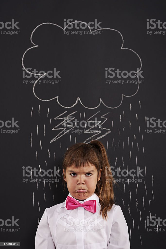 I have very bad day! royalty-free stock photo
