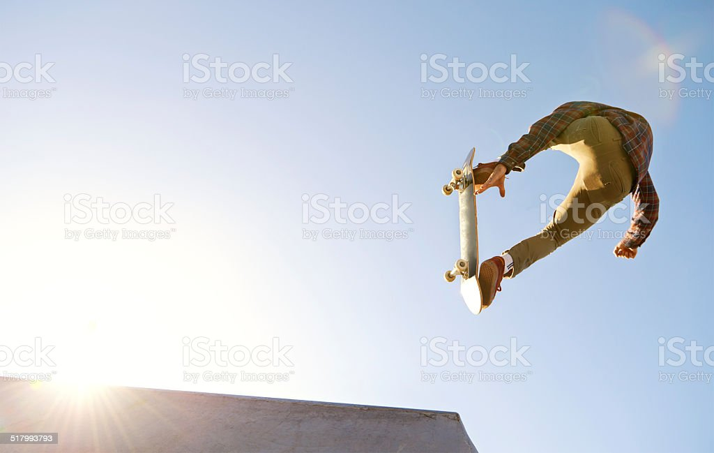 Have you see the skills on this one? stock photo