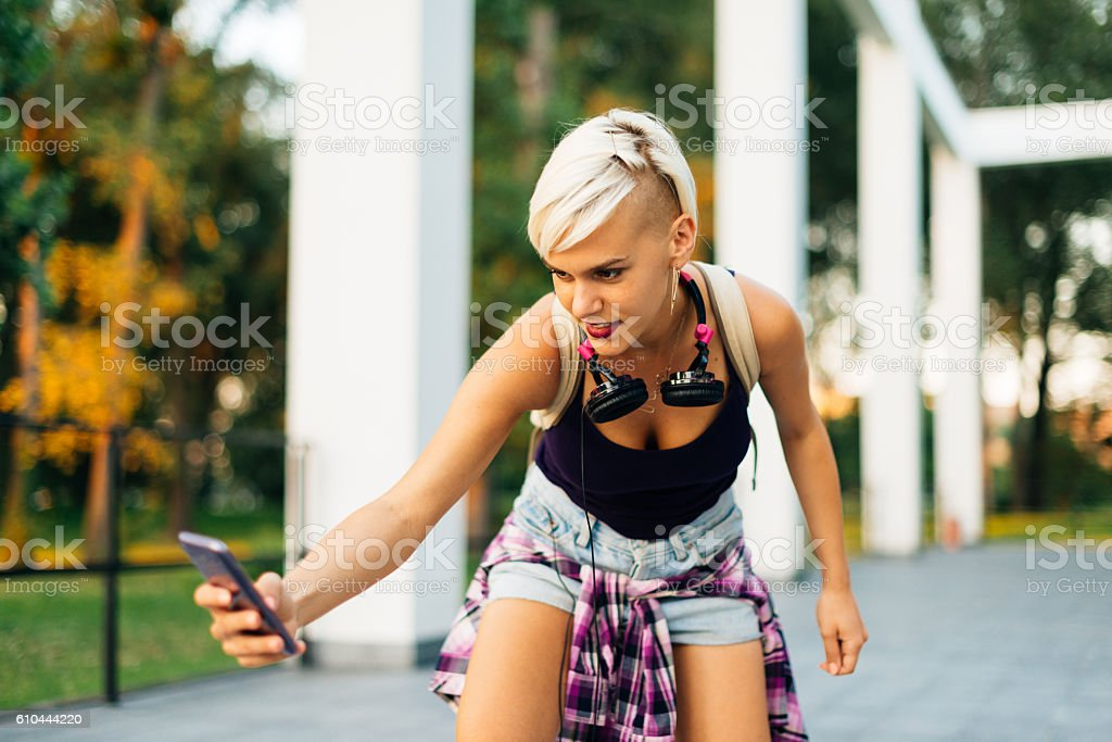 Have you tried new app for smartphones stock photo