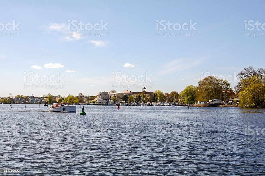 Havel river and old town of Potsdam, Brandenburg Germany stock photo
