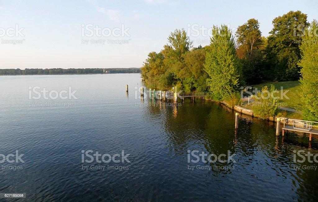 Havel river landscape at summer time stock photo