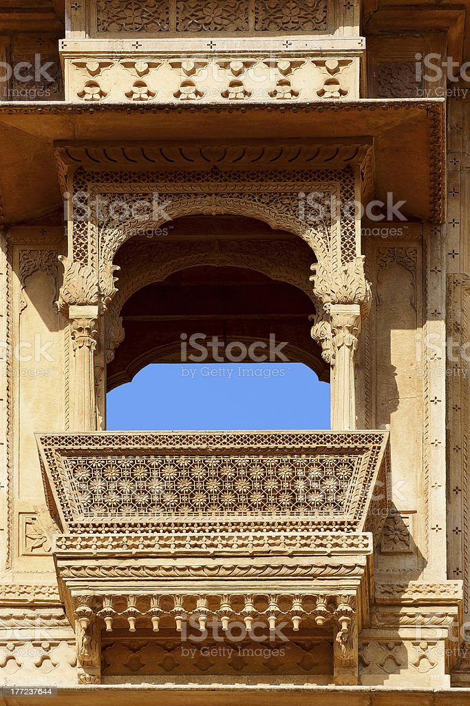 Haveli-private mansion in India. Jaisalmer city royalty-free stock photo