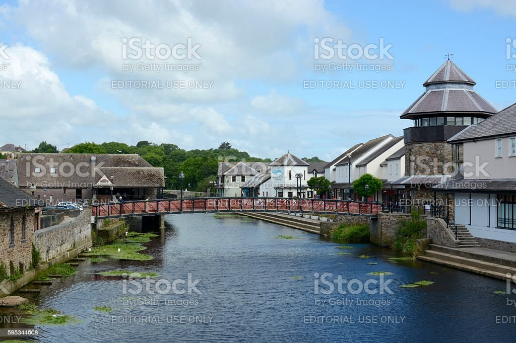 Haverfordwest Town stock photo
