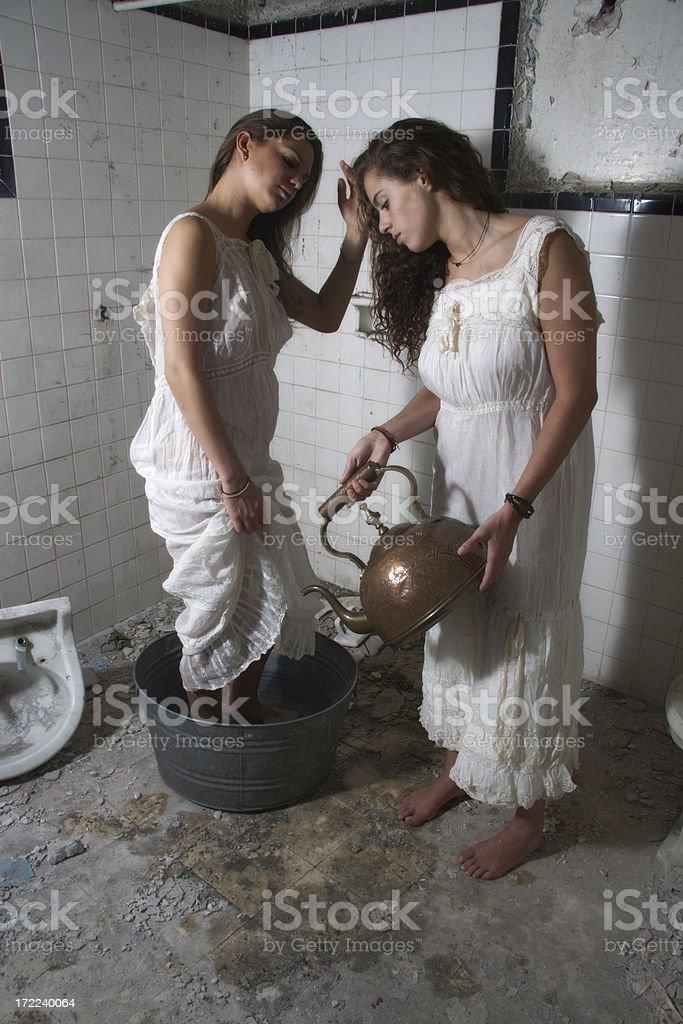 having a bath royalty-free stock photo