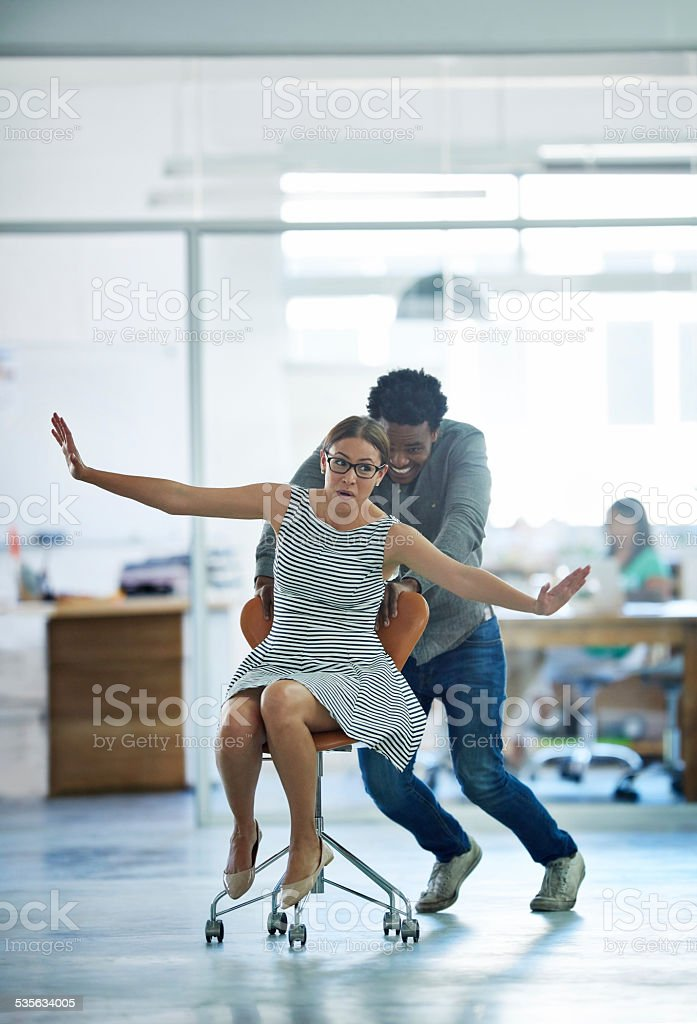 Having a bit of break time fun stock photo