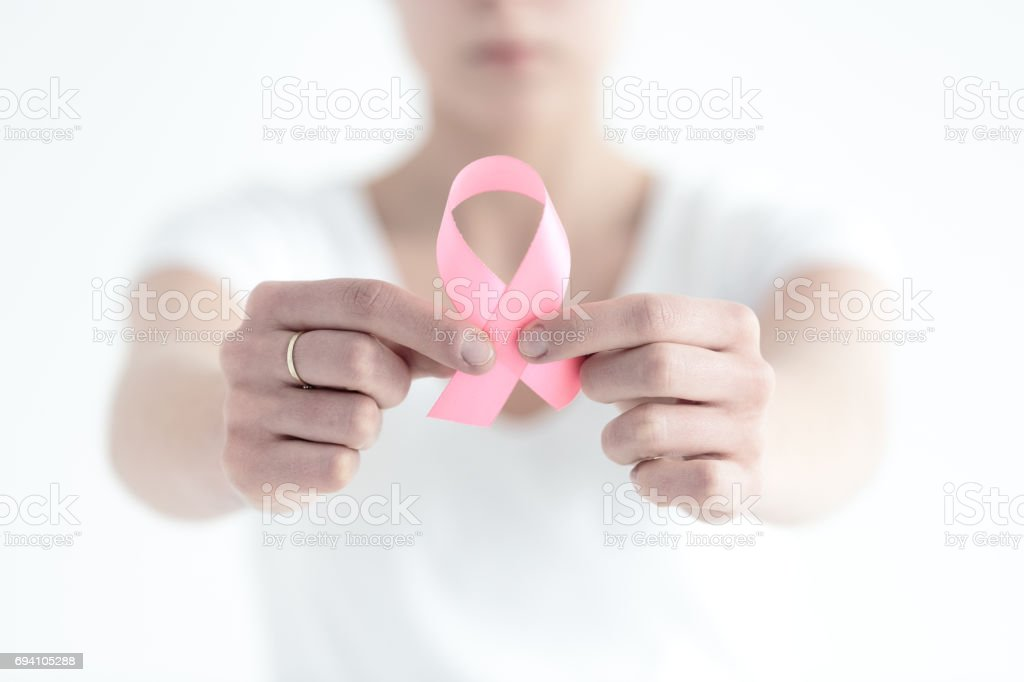 Having a breast cancer stock photo